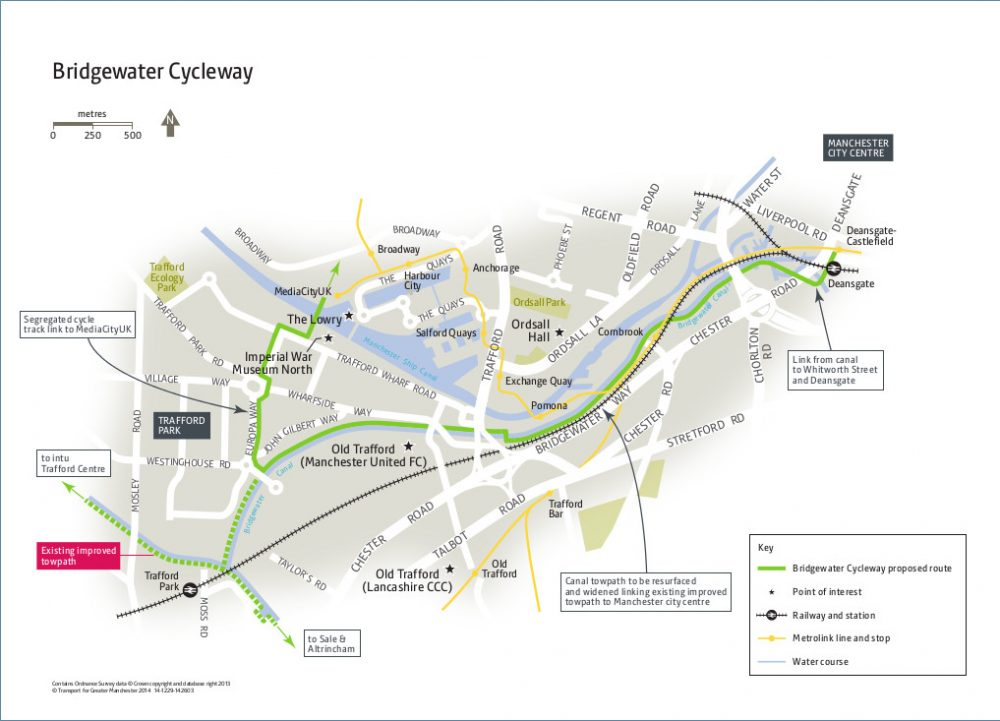 Bridgewater Cycleway overview map