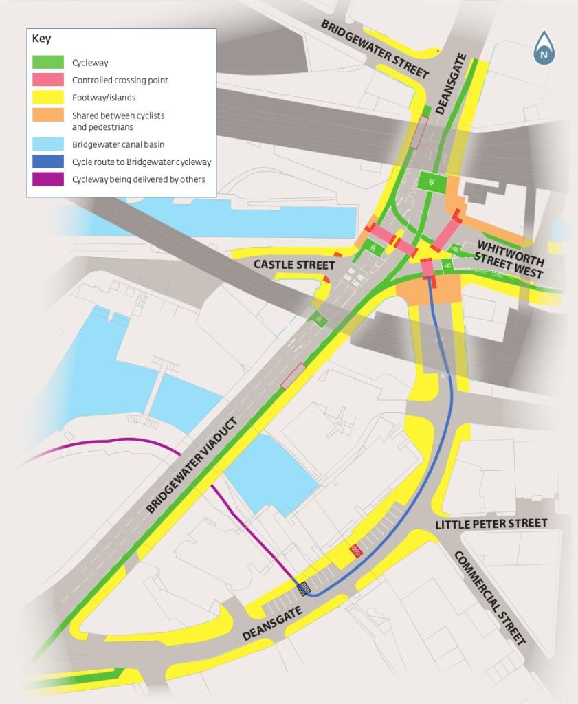 Bridgewater Viaduct changes detail map