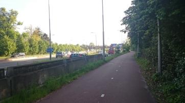 The cycle path alongside the N44