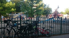 Bikes parked up while the kids play at Duinrell