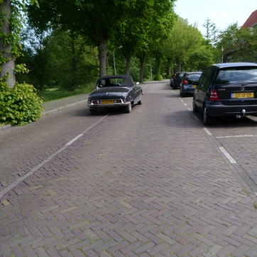 One of the quiet roads with no specific cycle infrastructure