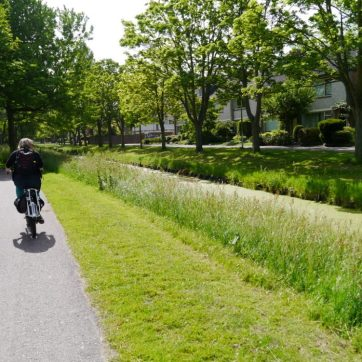 The other half riding along one of the canal-side cycle routes