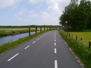 On-road cycle lanes on a very quiet road
