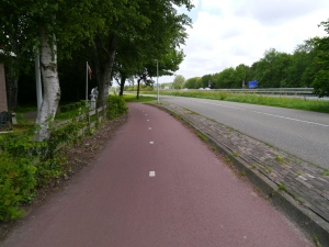 Cycle path next to the A44