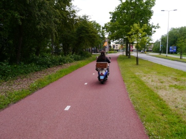 Overtaken by a moped