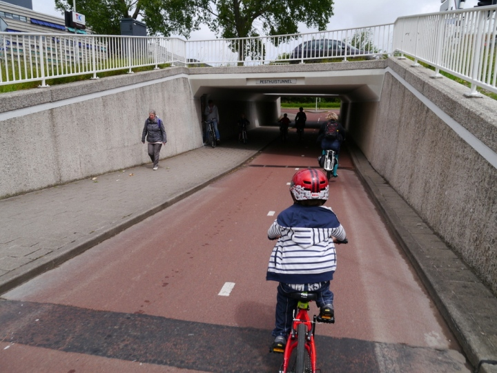 Well designed underpass in The Netherlands, with clear routes through and good levels of social safety