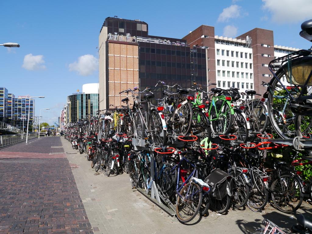 Bike parking at Leiden Centraal