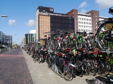 Bike parking at Leiden Centraal