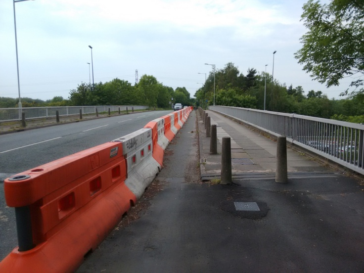 Still to be completed, the shared use path over the M60