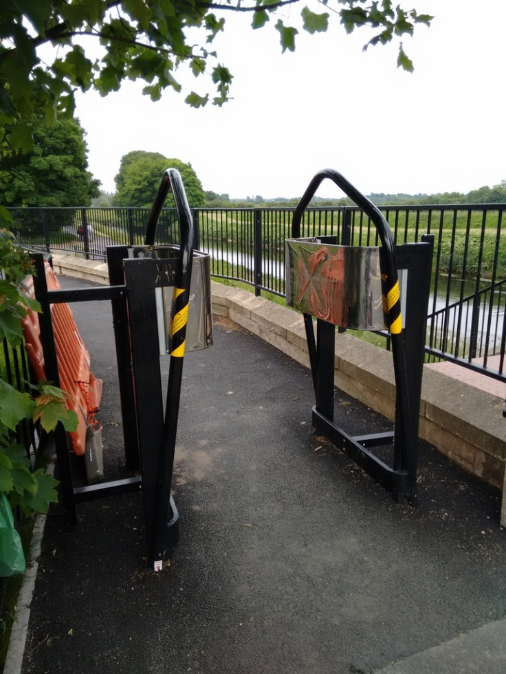 K Barriers onto the Trans Pennine Trail, leading to accessibility issues