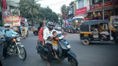 Family on a moped