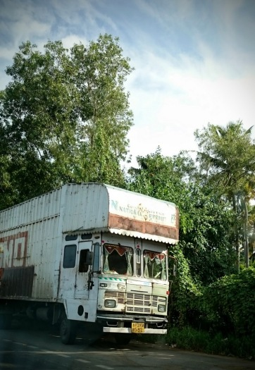 Lorry in a lay-by
