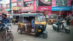 Bikes and auto rickshaws
