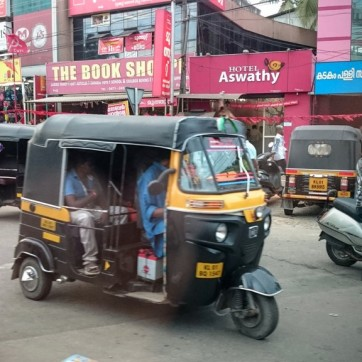Bikes and auto rickshaws