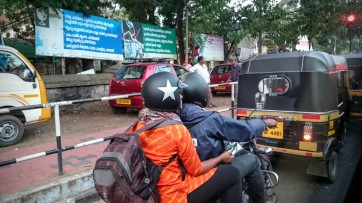 A pillion passenger in a helmet, must be the only one I saw