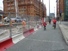 Metrolink works on Lower Mosley Street