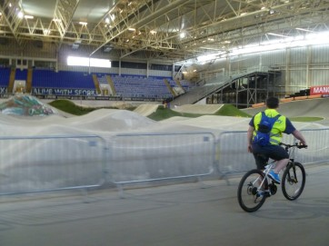 Passing the BMX track