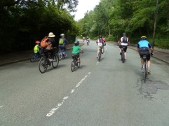 Heading down Bank Bridge Road