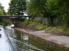 Work in progress under a bridge