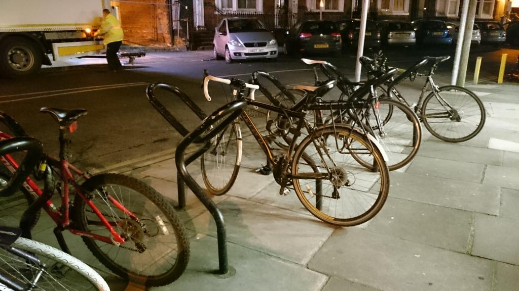 Slightly unusual cycle racks outside the Reel Cinema