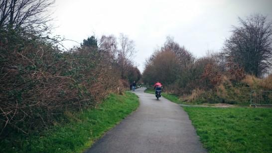 En route to the Platt Fields Bike Hub on the Fallowfield Hub