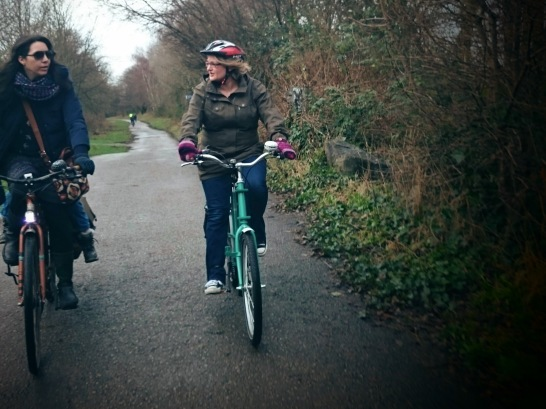 Mums on their bikes