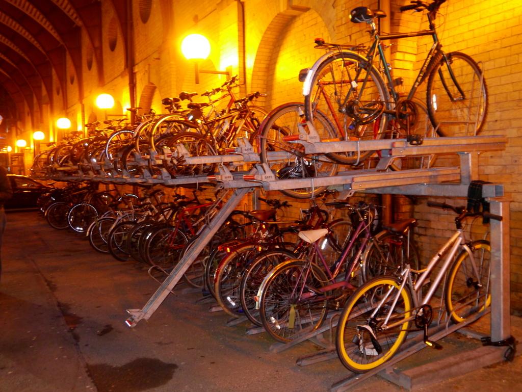 Cycle parking at York Station