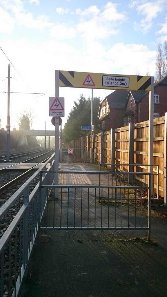 Barriers at Didsbury Village stop