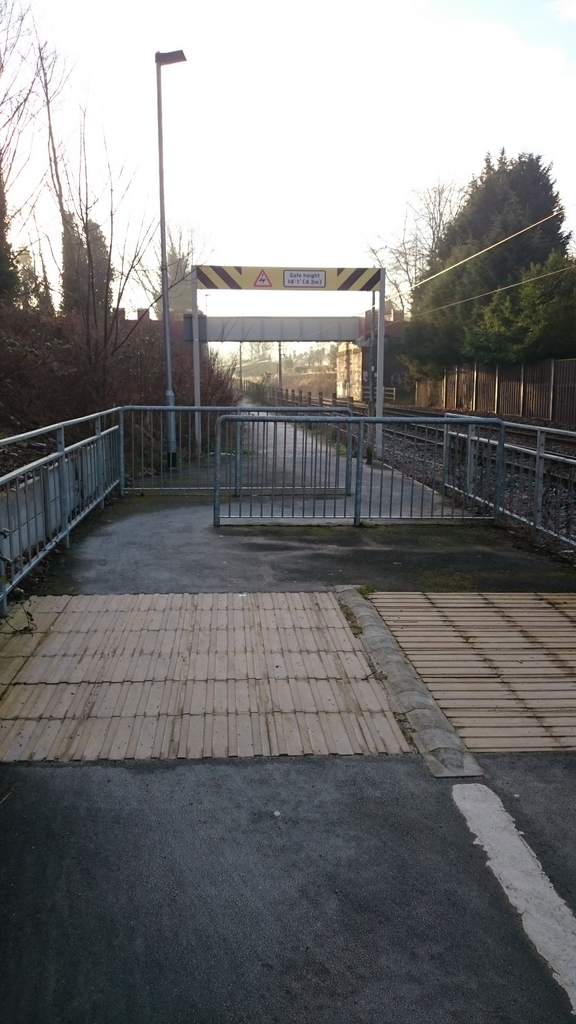 Barriers at Didsbury Village stop