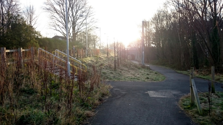 Fork in the route just after East Didsbury