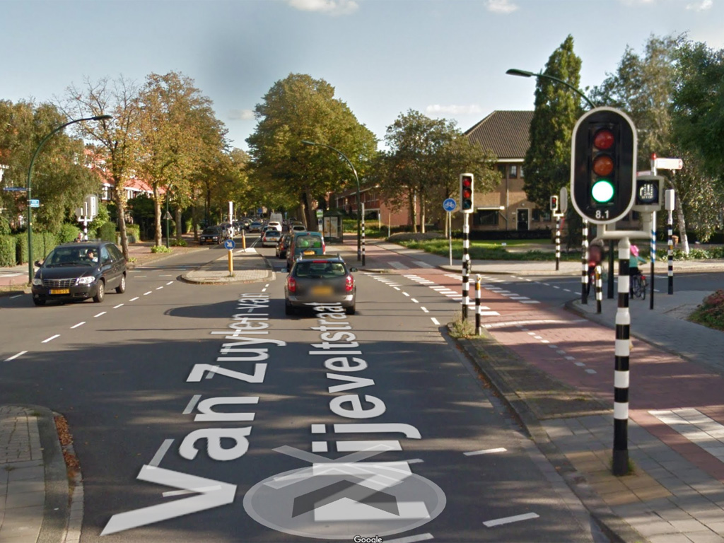 A typical junction of a similar size in The Netherlands