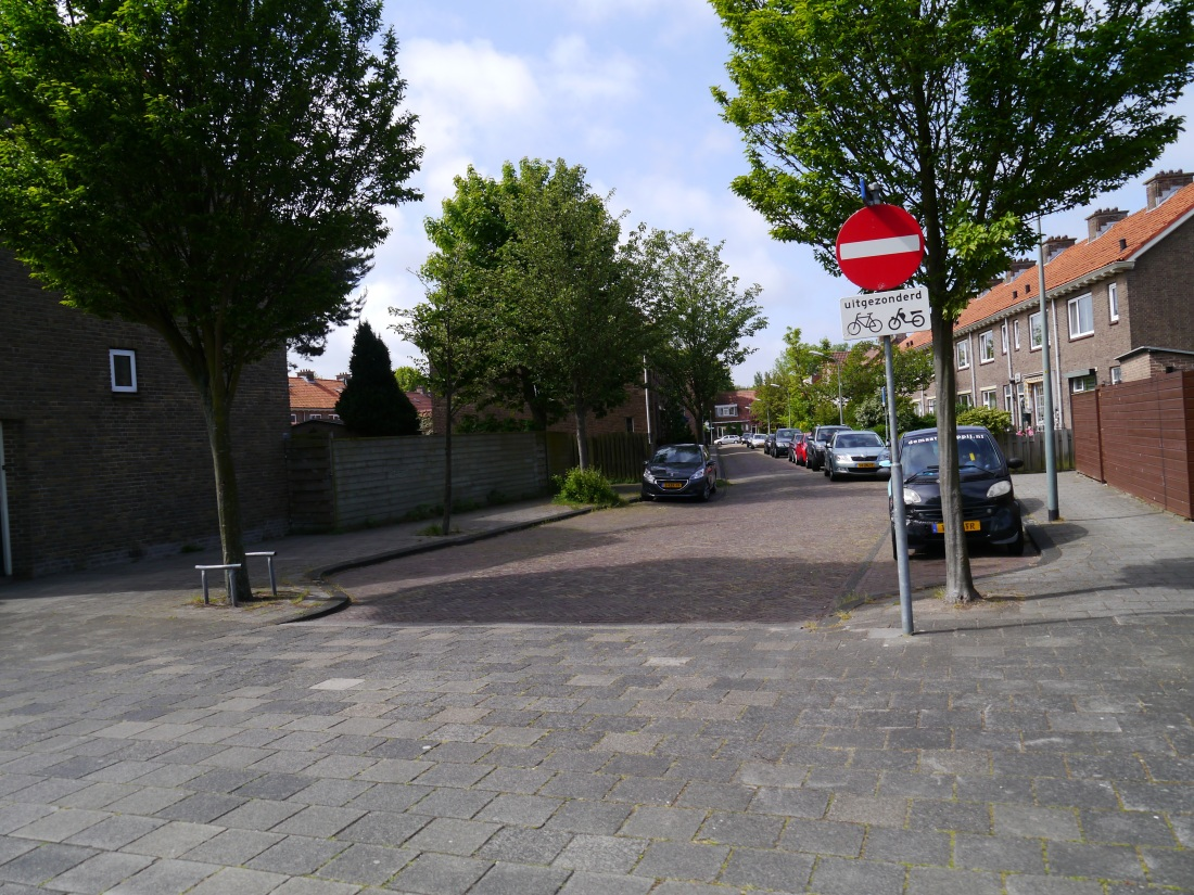 Typical access road in The Netherlands