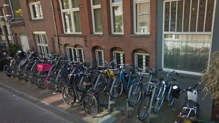 Typical residential parking in The Netherlands