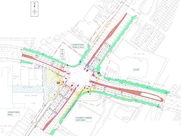 Proposed junction improvements - Phase 1 - General arrangement