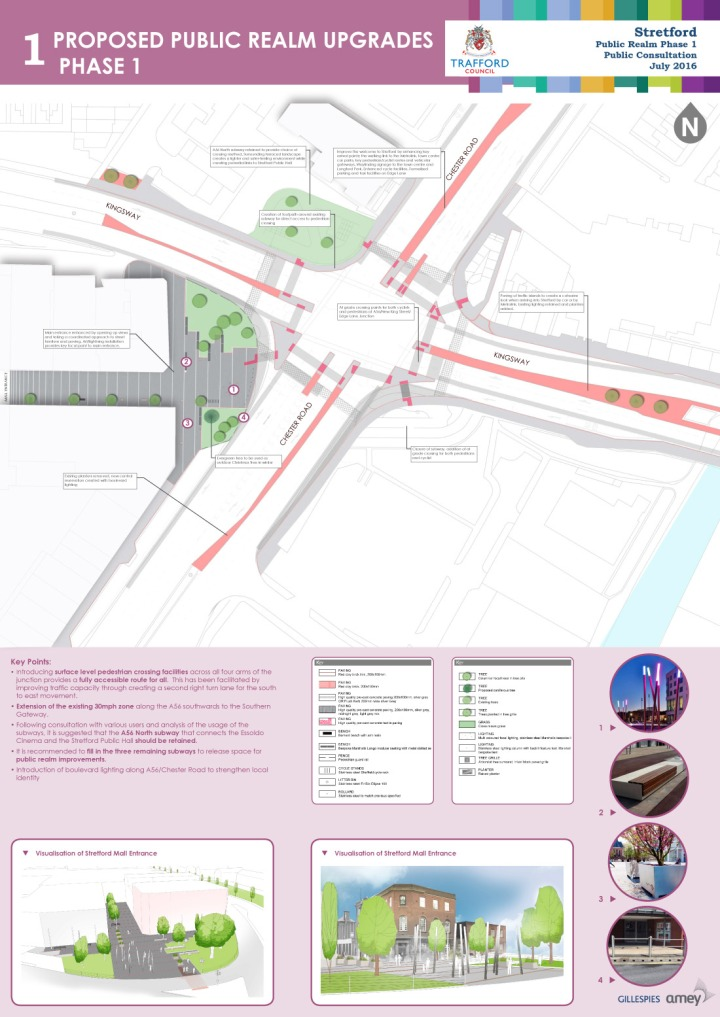 Proposed public realm upgrades phase 1