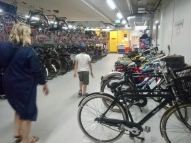 Heading out of the cycle parking