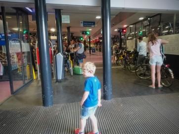 Indoor cycle parking at Utrecht Centraal