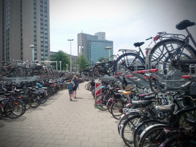 Outdoor parking at Utrecht Centraal