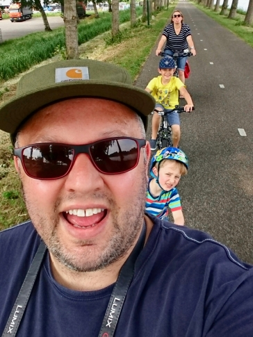 Bike selfie on Kanaaldijk West