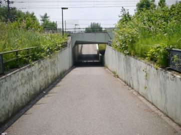 Underpass under the train line