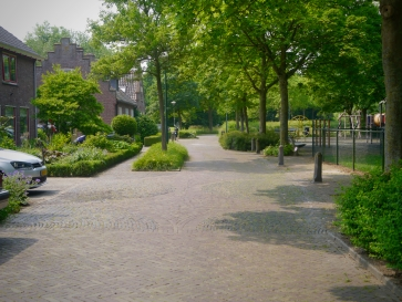Play street near De Haar Castle