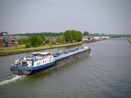 Boat passing on the Amsterdam–Rhine Canal