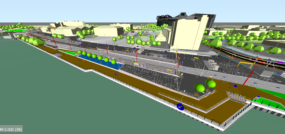 Image 2: Shows a 3D image of the Wharfside area