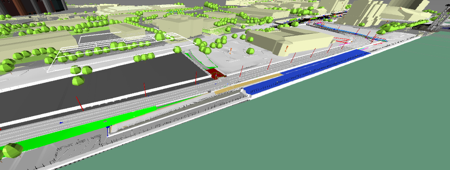 Image 4: View from the existing pedestrian ramp toward Quay West Building