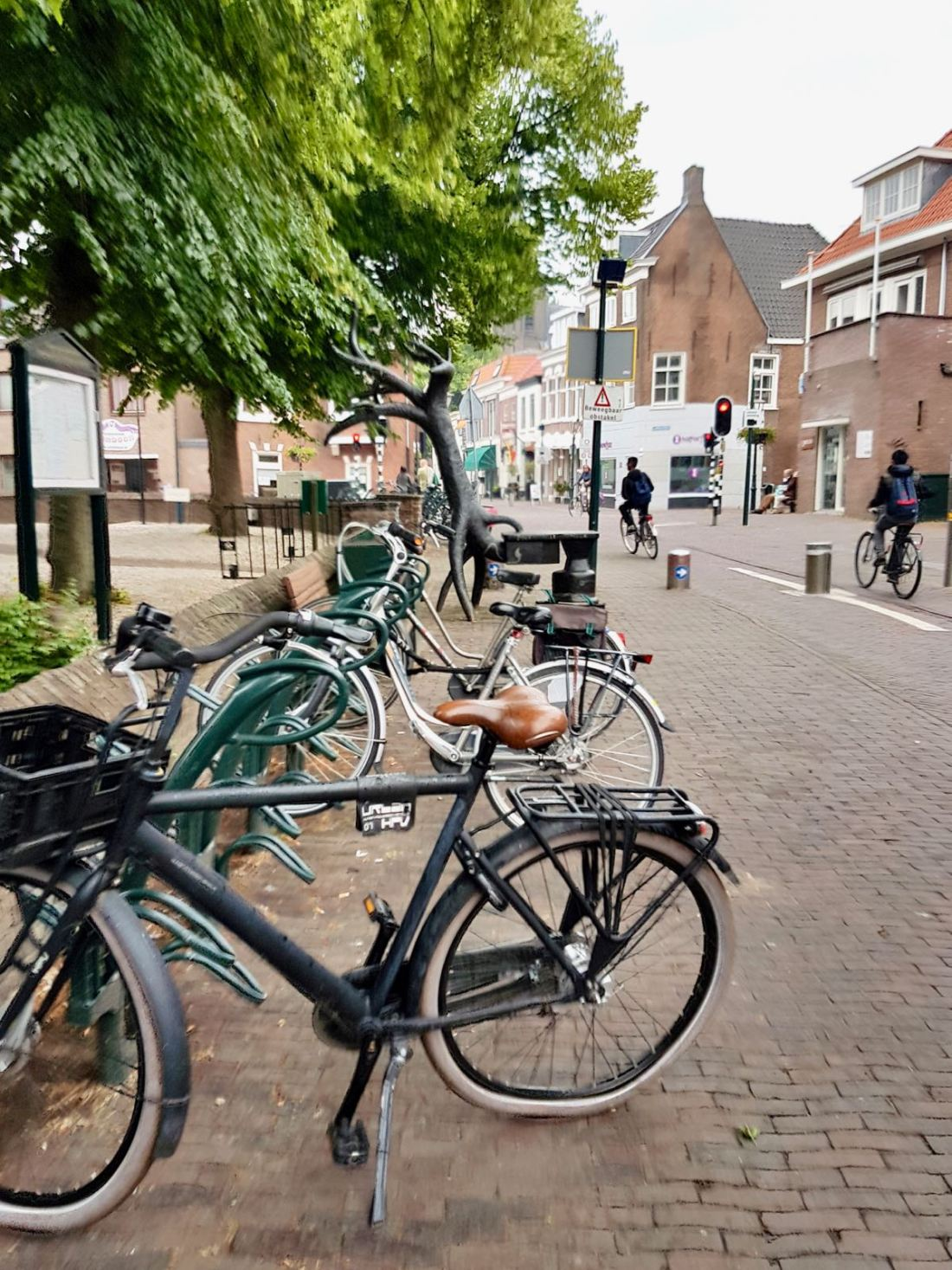 Bikes parked up on Dorpstraat