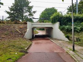 Underpass going under the railway line onCambridgepad