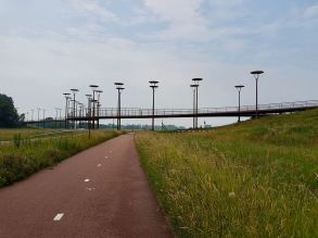 Approaching Burgemeester Jan Waaijerbrug bridge