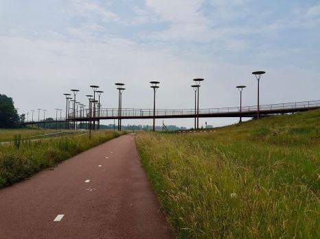 Approaching Burgemeester Jan Waaijerbrug bridge