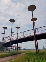 Views ofBurgemeester Jan Waaijerbrug bridge and the UFO lighting